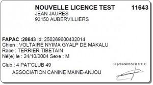 Licence SCC 2016