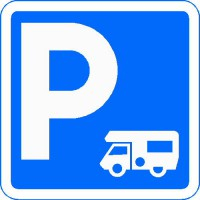panneau parking camping-car