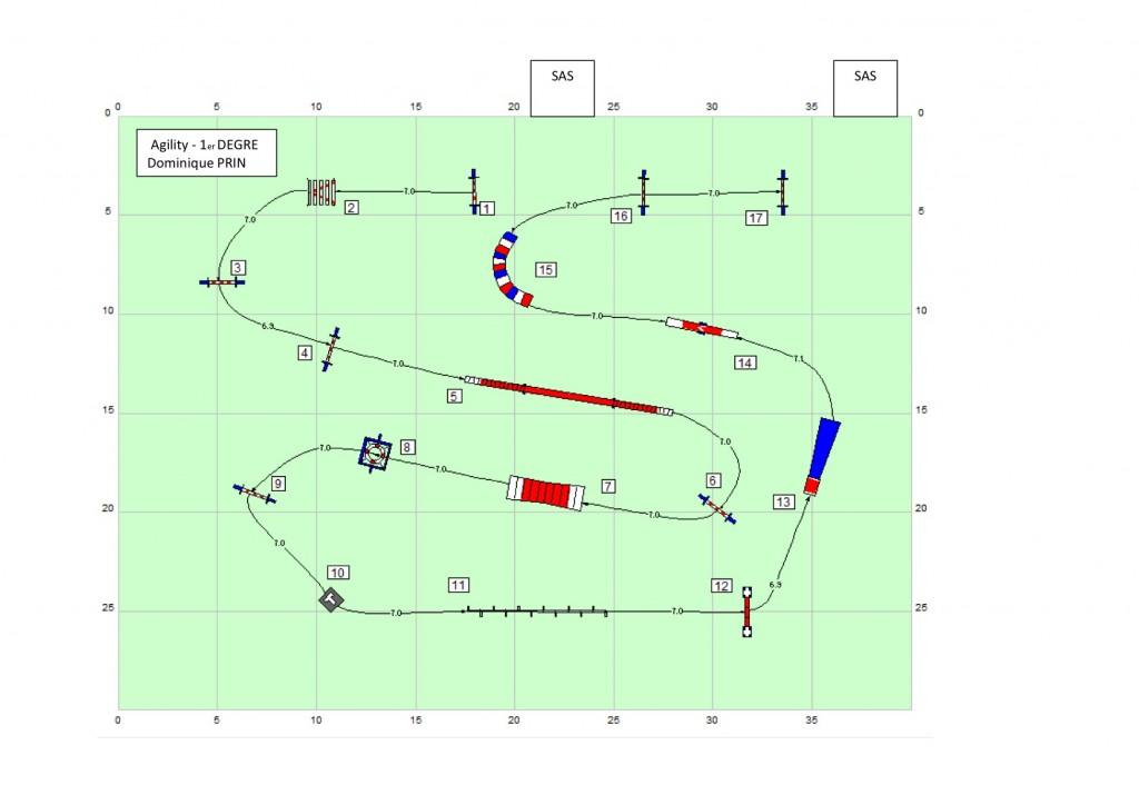 Agility 1 - Parcours n°3