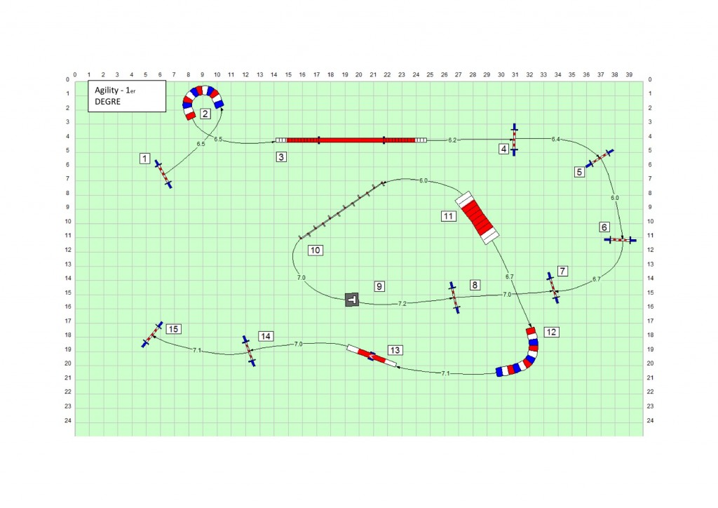Agility 1 - Parcours n°4