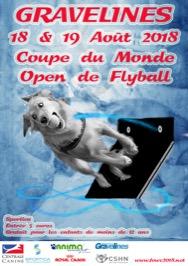 Coupe du Monde Flyball de la FCI 2018 @ Gravelines (59820)