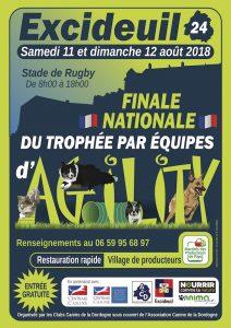 Trophée d'Agility par Équipes 2018 @ Stage Jean Andrieux, Excideuil (24160)