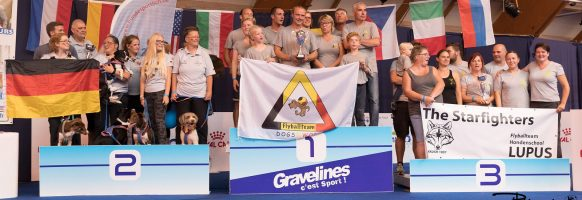 Flyball Open World Cup 2018 – Podium division 2