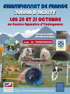 Championnat de France d'Agility Junior 2018 @ Yssingeaux (43200)